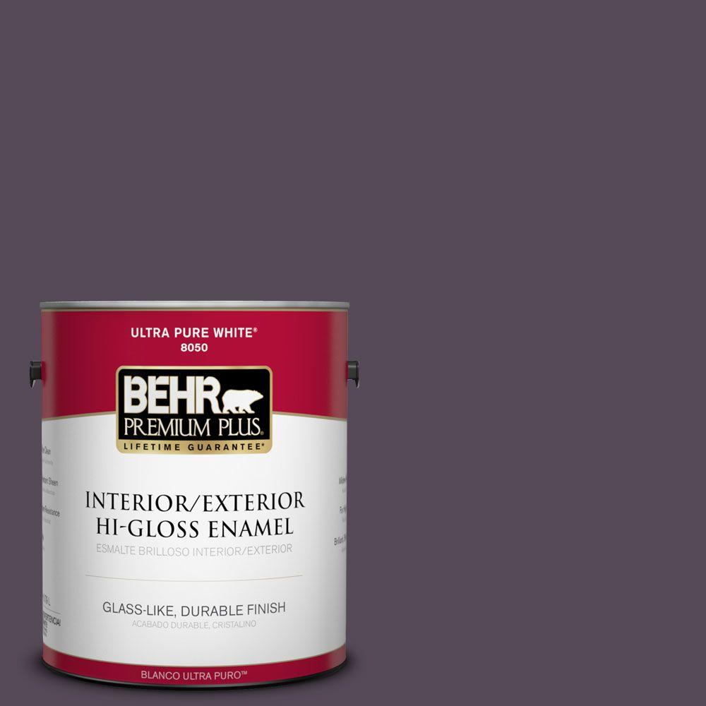 BEHR Premium Plus 1-gal. #BXC-51 Deep Mulberry Hi-Gloss Enamel Interior/Exterior Paint