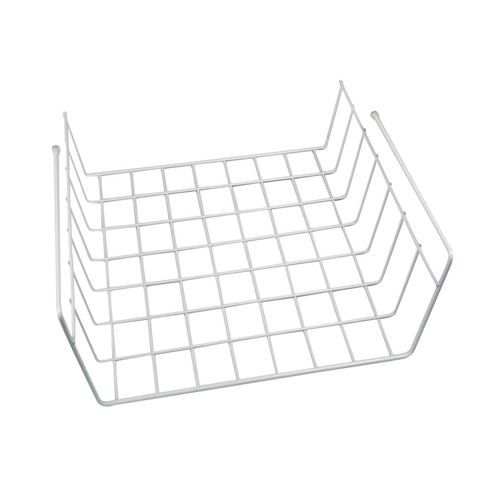 11.3 in. x 11.8 in. x 5.3 in. White Metal Wall