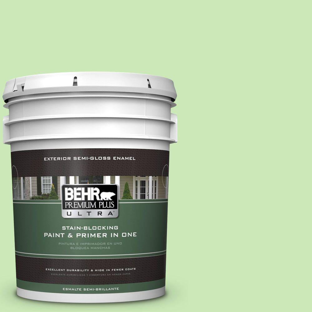 BEHR Premium Plus Ultra 5-gal. #430A-3 Fairway Mist Semi-Gloss Enamel Exterior Paint