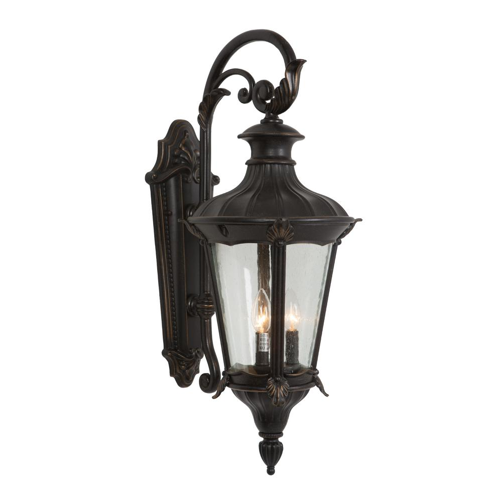Yosemite Home Decor Leonardo Collection 2-Light Oil-Rubbed Bronze ...