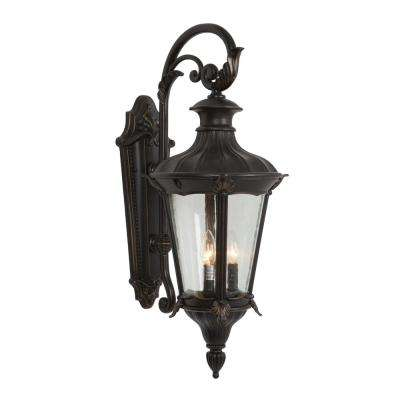 Leonardo Collection 2-Light Oil-Rubbed Bronze Outdoor Wall Mount Lamp