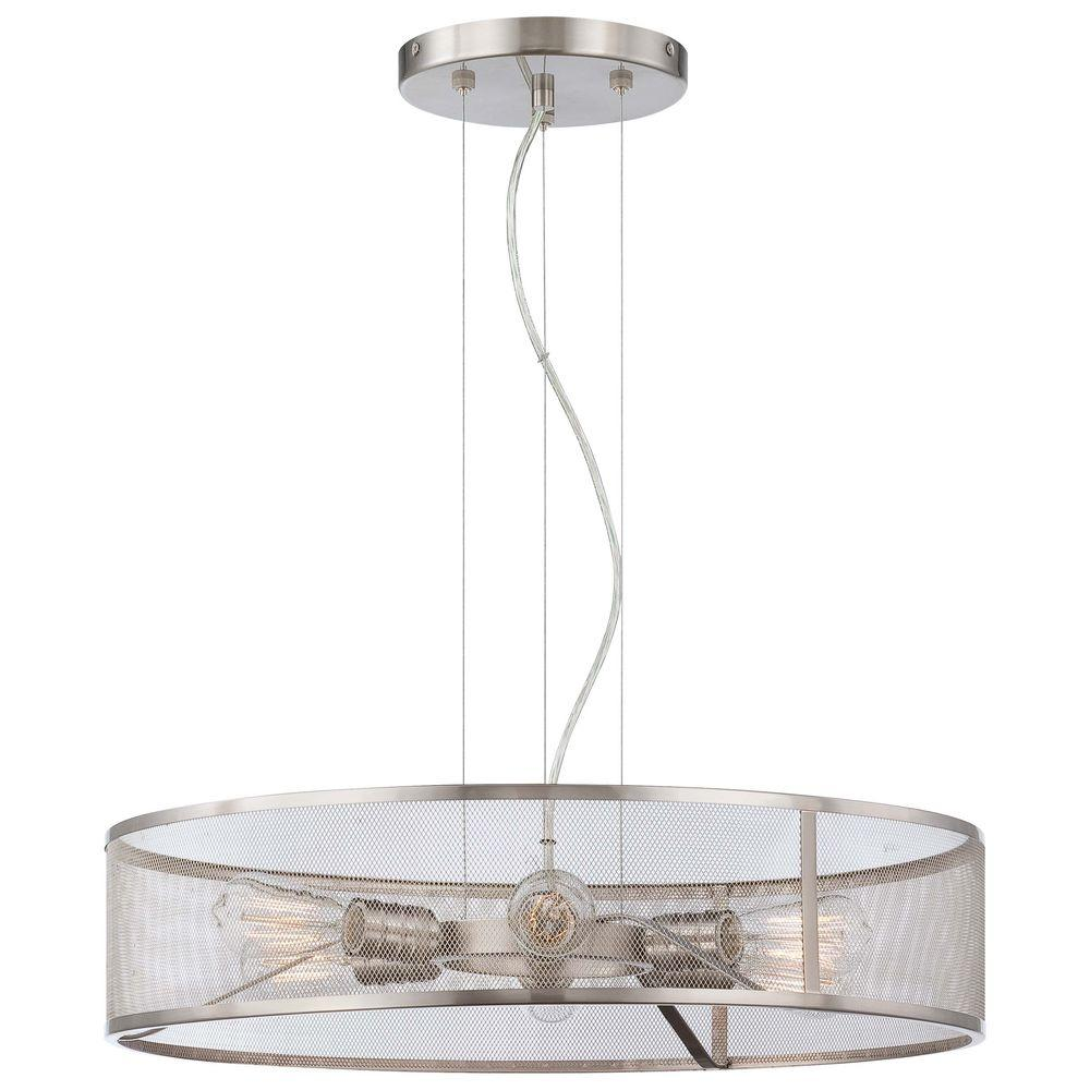 Downtown Edison 6-Light Brushed Nickel Pendant Light
