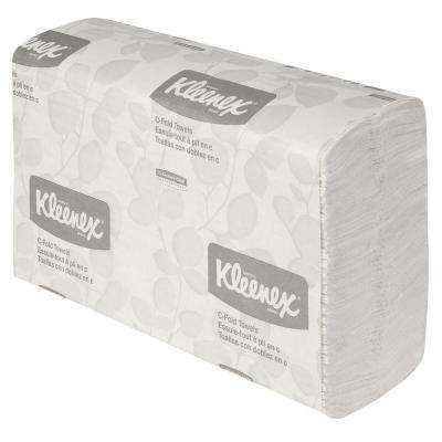 White C-Fold Towels (150 per Pack)