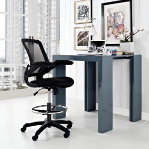 Modway Veer Drafting Stool in Black by Modway