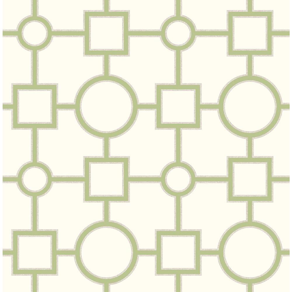 A-Street Matrix Green Geometric Wallpaper 2625-21811