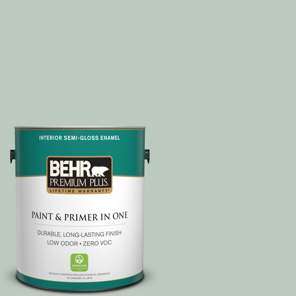 1-gal. #N420-2 Mountain Falls Semi-Gloss Enamel Interior Paint