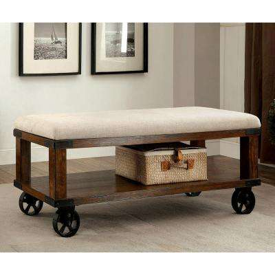 Everette Light Oak Mobile Bench
