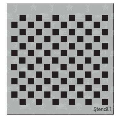 Checkers Small Repeat Pattern Stencil
