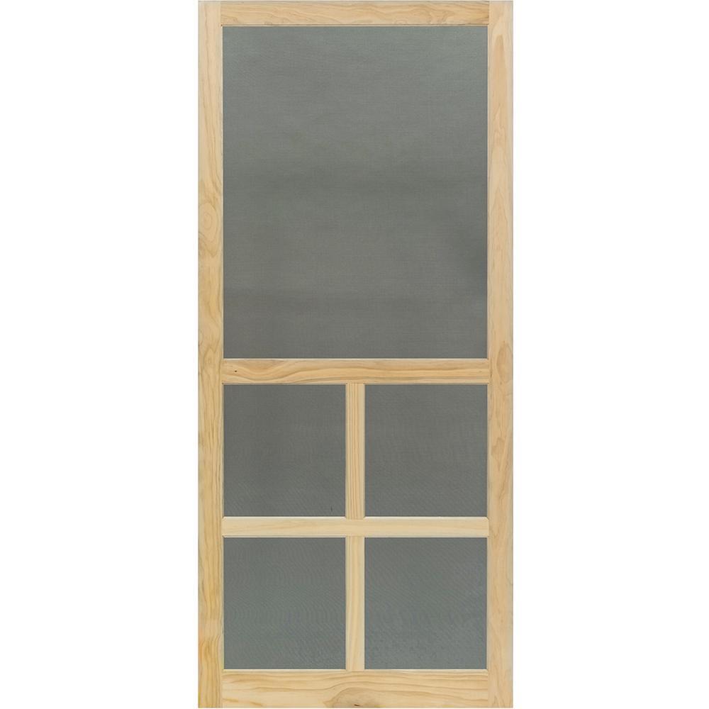 35.75 in. x 79.75 in. Victoria Stainable Screen Door