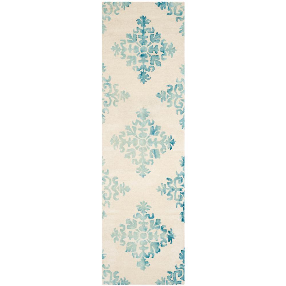 Dip Dye Ivory/Light Blue 2 ft. 3 in. x 8 ft.