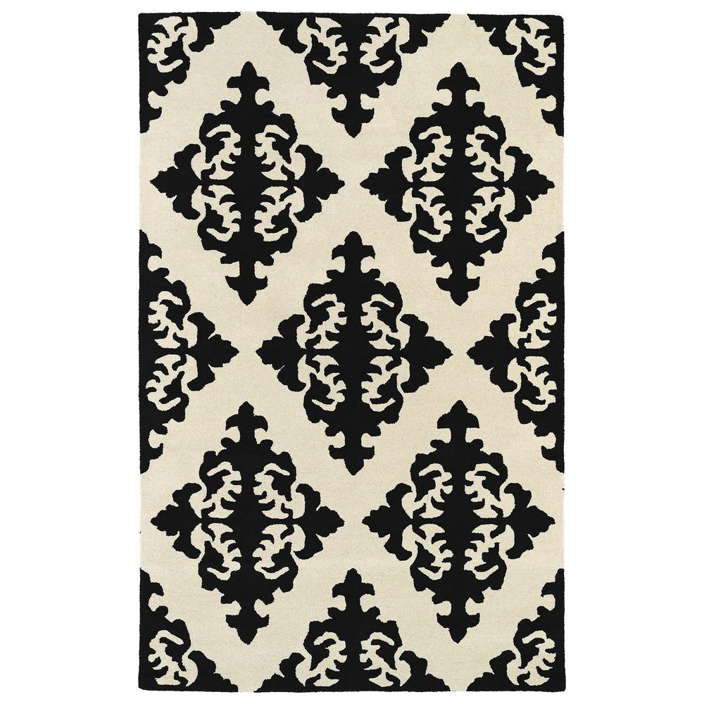 Kaleen Evolution Black 5 ft. x 8 ft. Area Rug