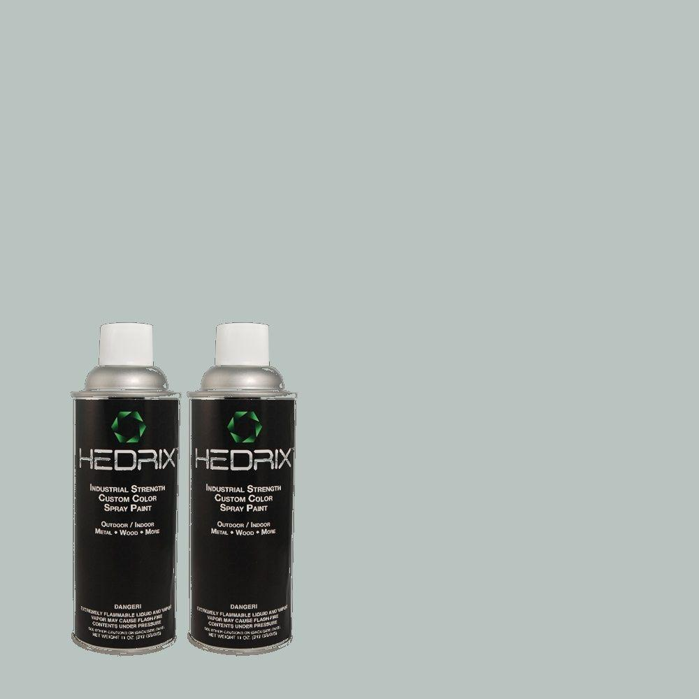 Hedrix 11 oz. Match of RAH-67 Evening Shadows Flat Custom Spray Paint (2-Pack)