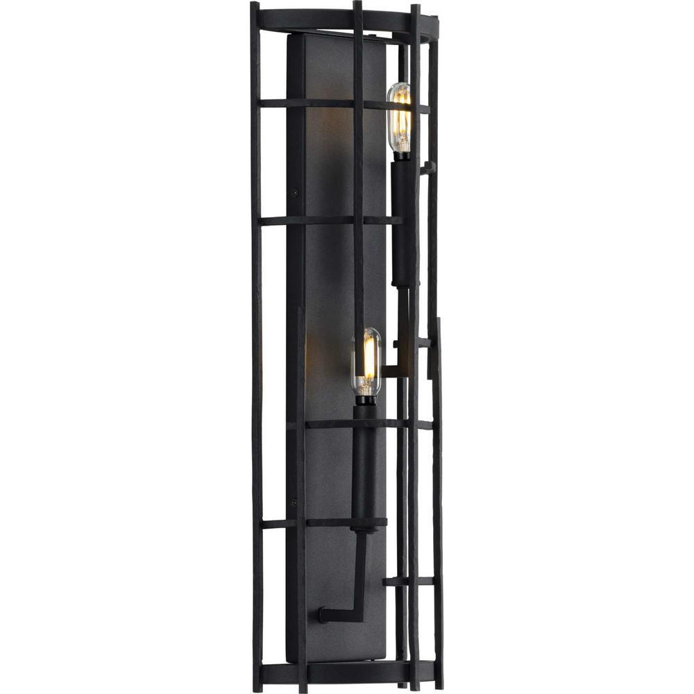 Torres 2-Light Black Wall Sconce