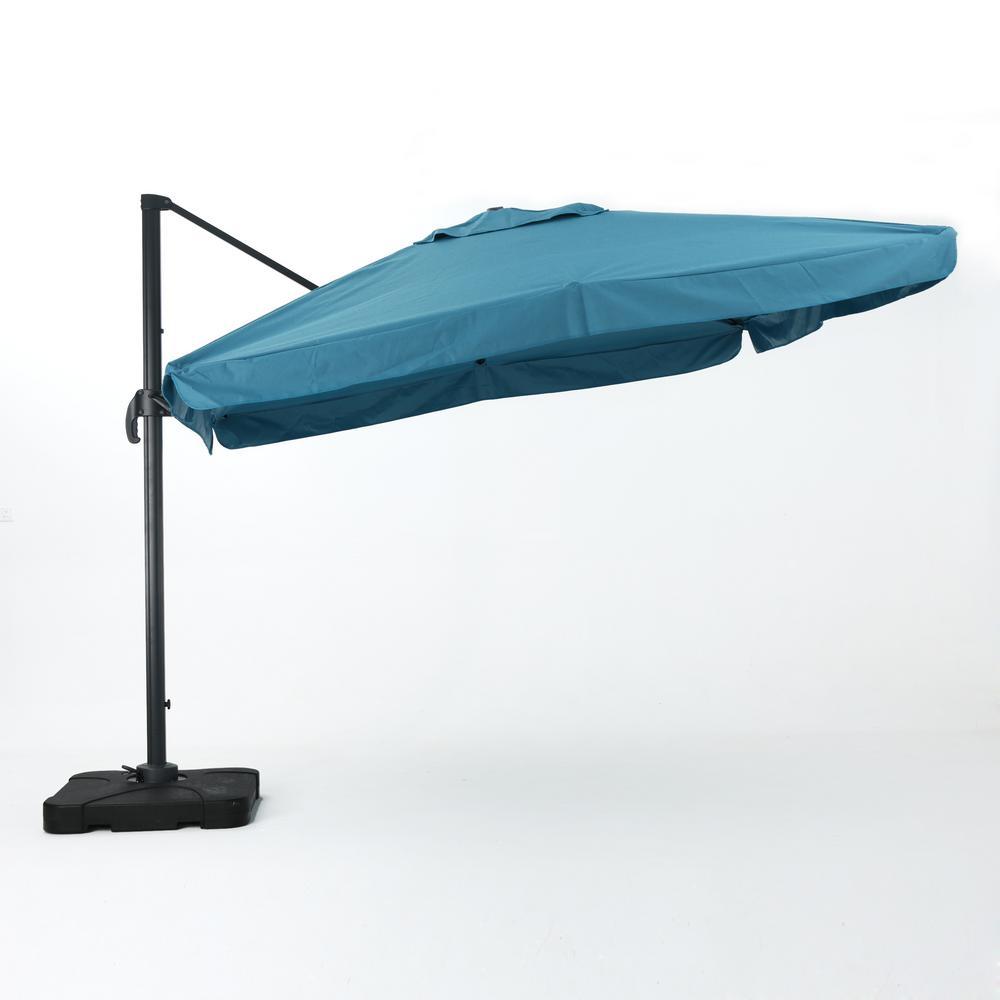 Merida 9.8 ft. Cantilever Patio Umbrella in Teal