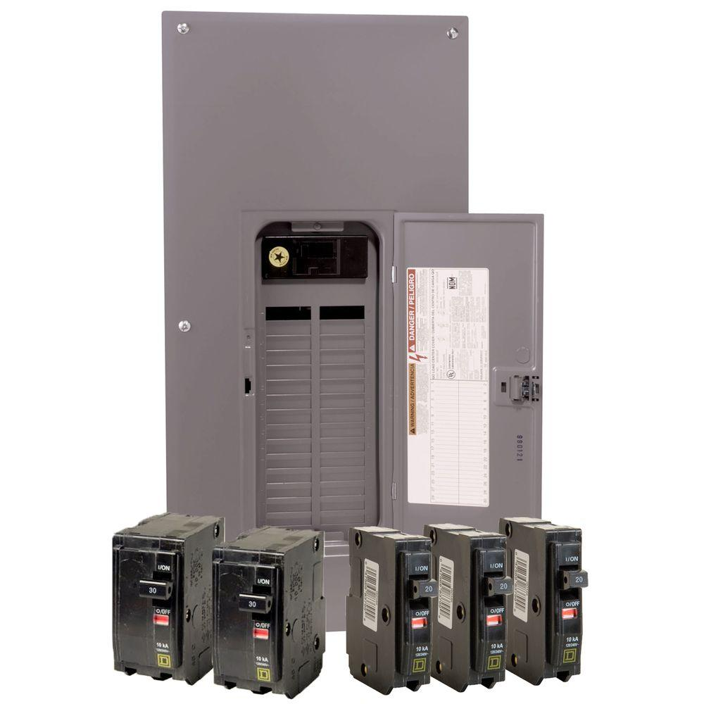 square d main breaker box kits qo3040m200vp 64_1000 square d qo 200 amp 30 space 40 circuit indoor main breaker load fuse box cover home depot at bayanpartner.co