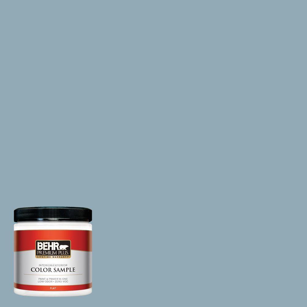 BEHR Premium Plus 8 oz. #530F-4 Newport Blue Interior/Exterior Paint Sample