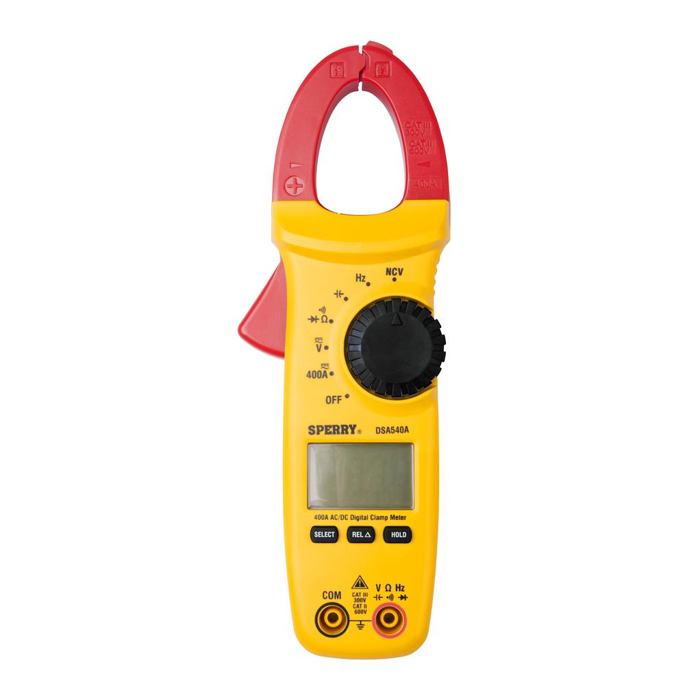 A Digital Clamp Meter 400 : Amp function snap around digital lcd clamp meter