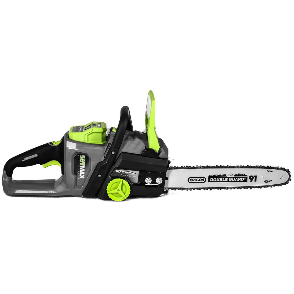 Earthwise 14 in 58 volt electric cordless chainsaw lcs35814 the earthwise 14 in 58 volt electric cordless chainsaw greentooth Image collections