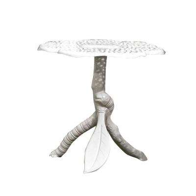 Butterfly 30 in. x 30 in. Cast Aluminum White Patio Table
