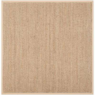 Natural Fiber Beige 9 ft. x 9 ft. Square Area Rug