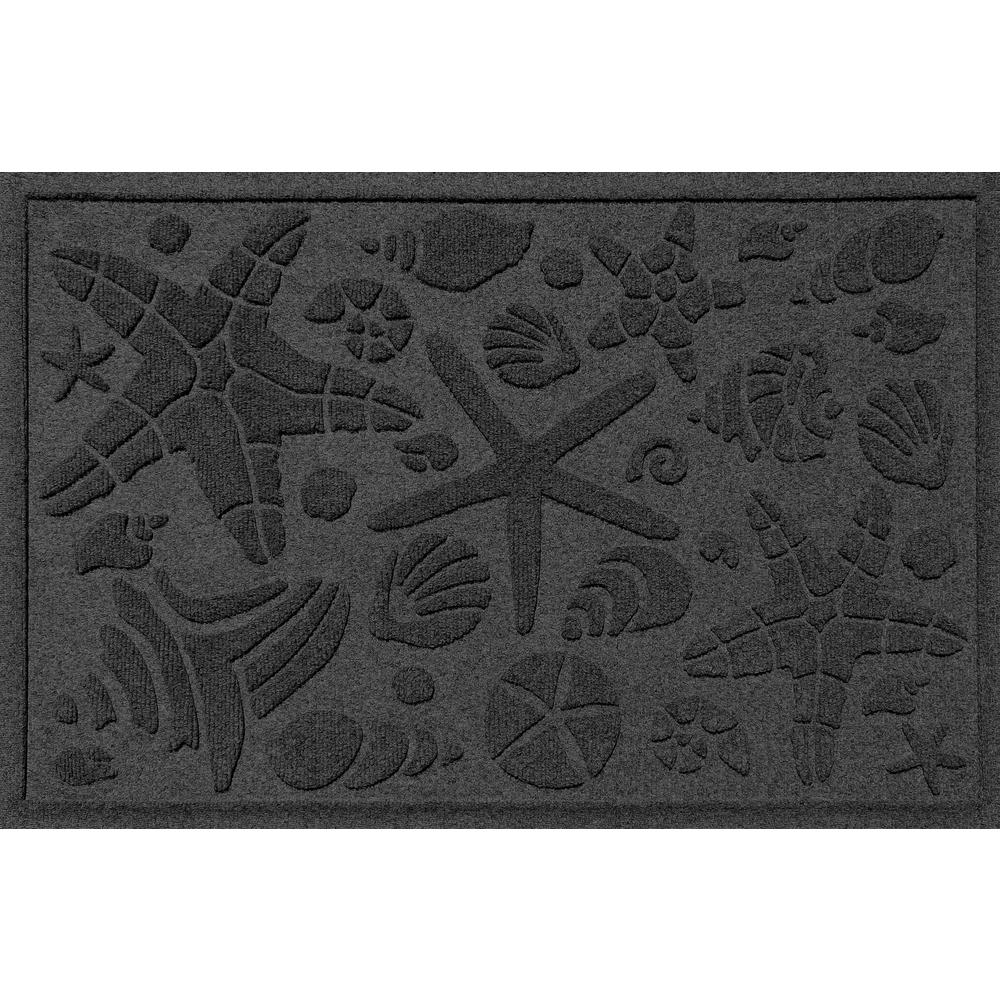 Charcoal 24 in. x 36 in. Beachcomber Polypropylene Door Mat