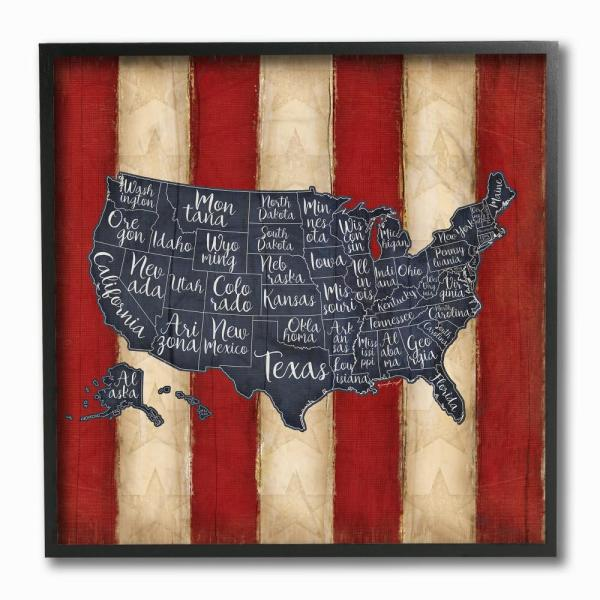 The Stupell Home Decor Collection 12 In X United States Map