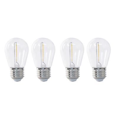 11-Watt Equivalent Soft White S14 String Light LED Light Bulb (4-Pack)