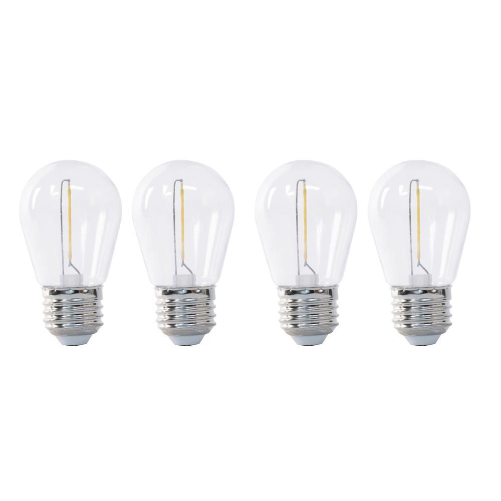 11W Equivalent Soft White S14 String Light LED Light Bulb (4-Pack)