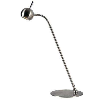 Cherry 22 in. Steel Desk Lamp with Steel Shade
