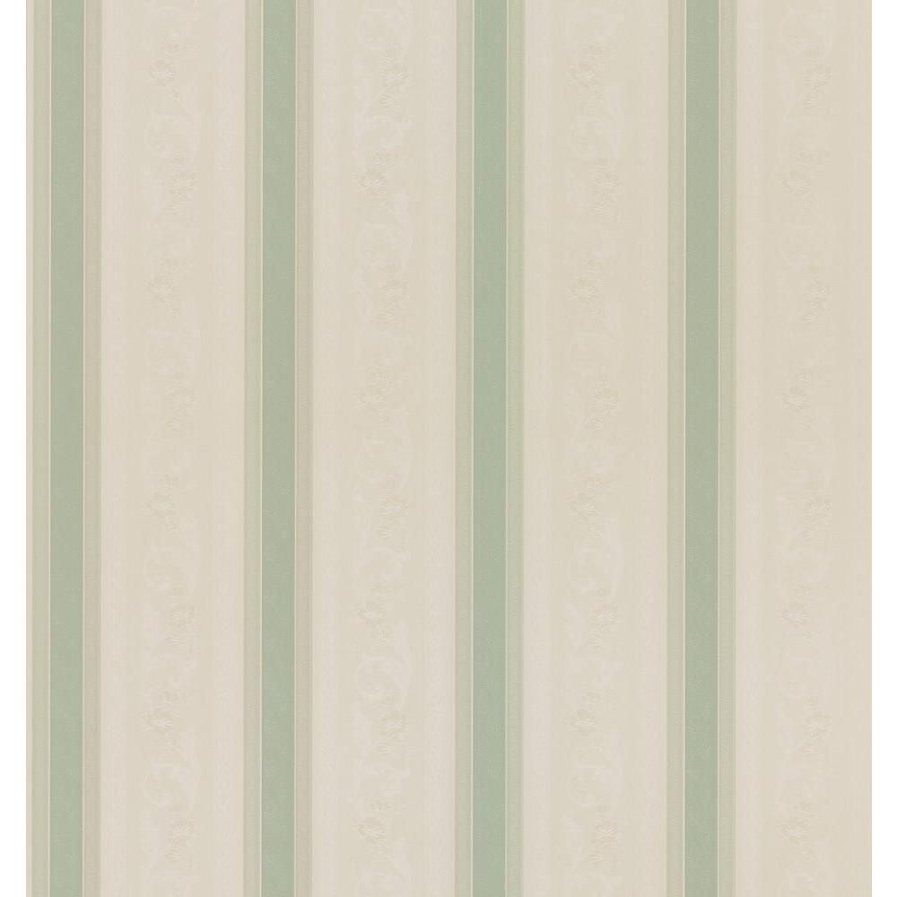 Cameo Rose IV Green Delores Trail Wallpaper Sample