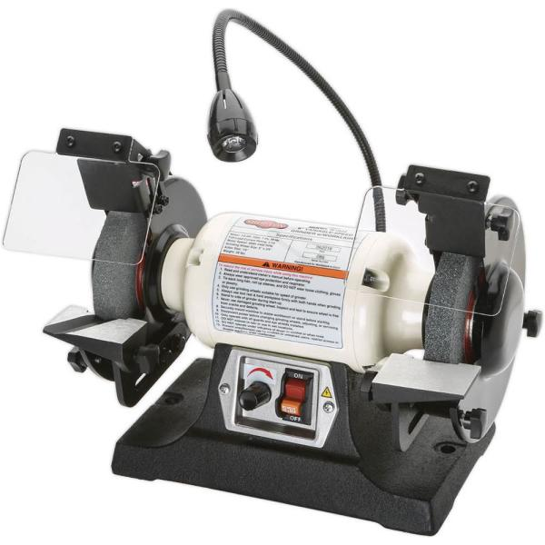 6 in. Variable-Speed Grinder with Worklight