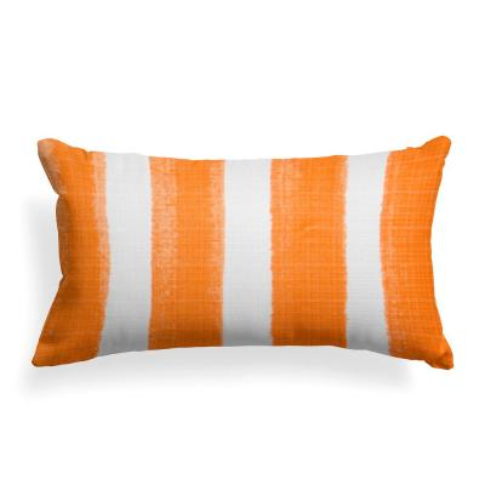 Caravan Orange Rectangular Lumbar Outdoor Pillow