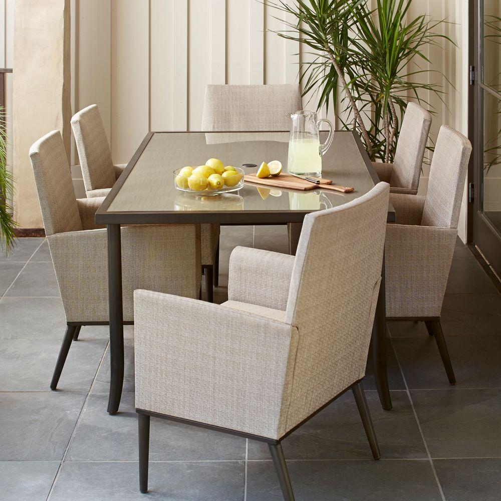 Hampton Bay Aria 7 Piece Patio Dining Set