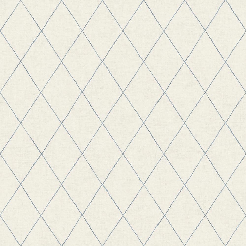 Rhombus Blue Geometric Wallpaper