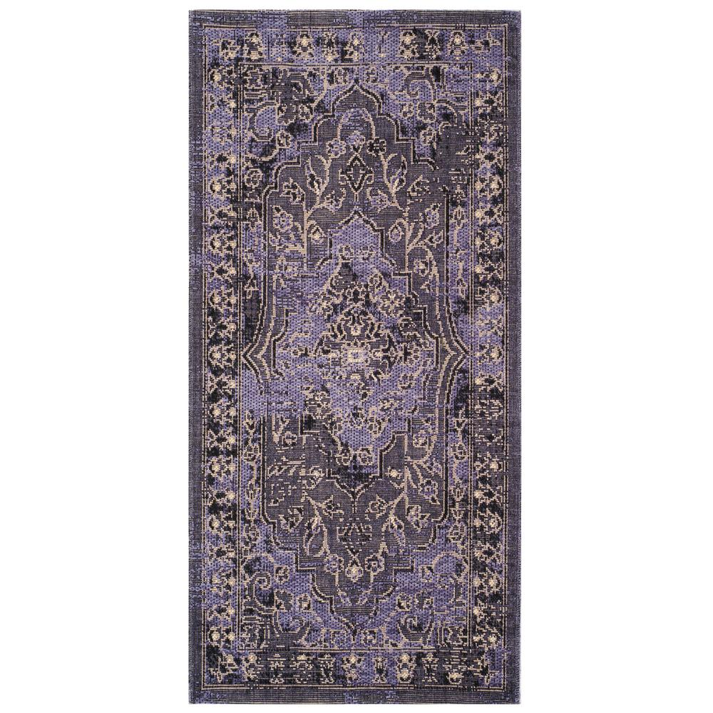 Safavieh Palazzo Purple Black 2 Ft 6 In X 5 Ft Area Rug Pal128