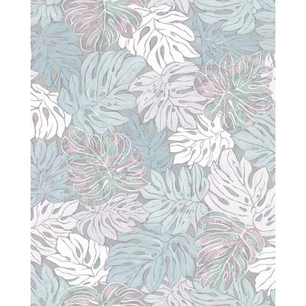 8 in. x 10 in. Cedar Grey Botanical Wallpaper Sample