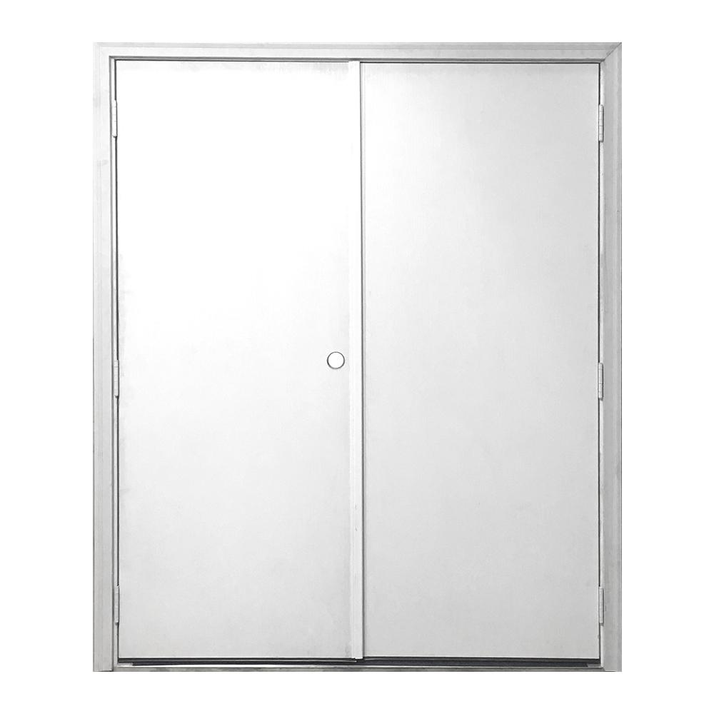 Steves and sons 48 in x 72 in garden shed flush white for Flush front door