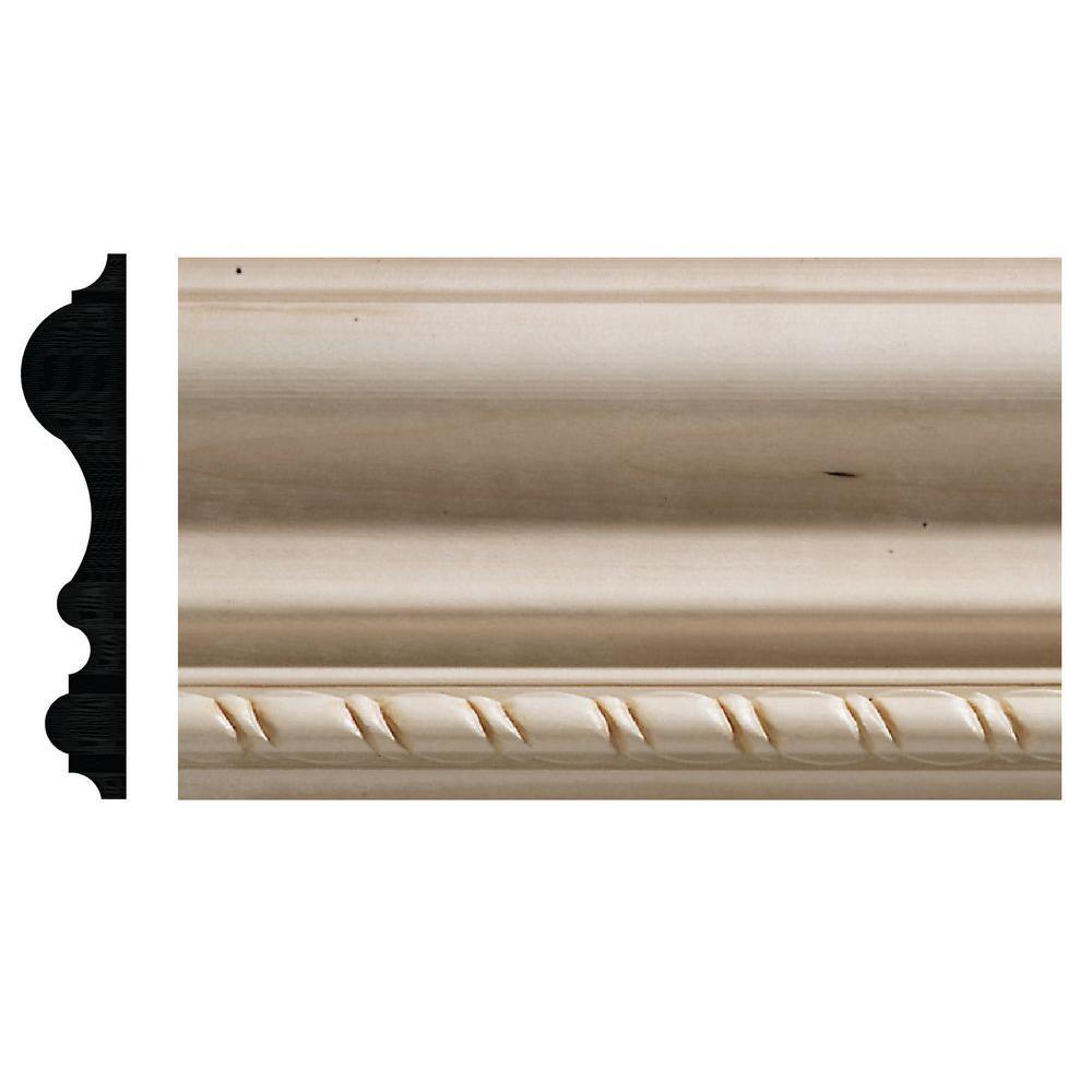 17/32 in. x 2-3/4 in. x 96 in. White Hardwood Chair Rail Moulding