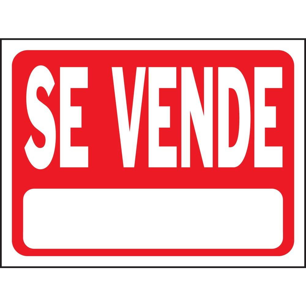 Hy ko 9 in x 12 in plastic se vende sign 20653 the for De signs