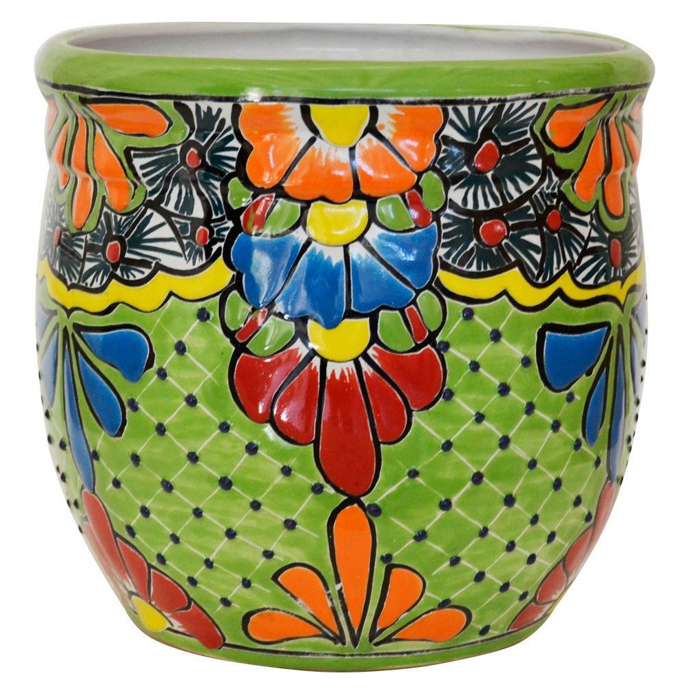 Fabulous Ravenna Pottery Talavera 10 In Round Ceramic Pot A 3 Machost Co Dining Chair Design Ideas Machostcouk