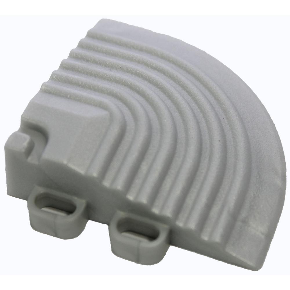 2.5 in. x 2.5 in. Pearl Silver Corner Edging for 15.75 in. Swisstrax Modular Tile Flooring (2-Pack)