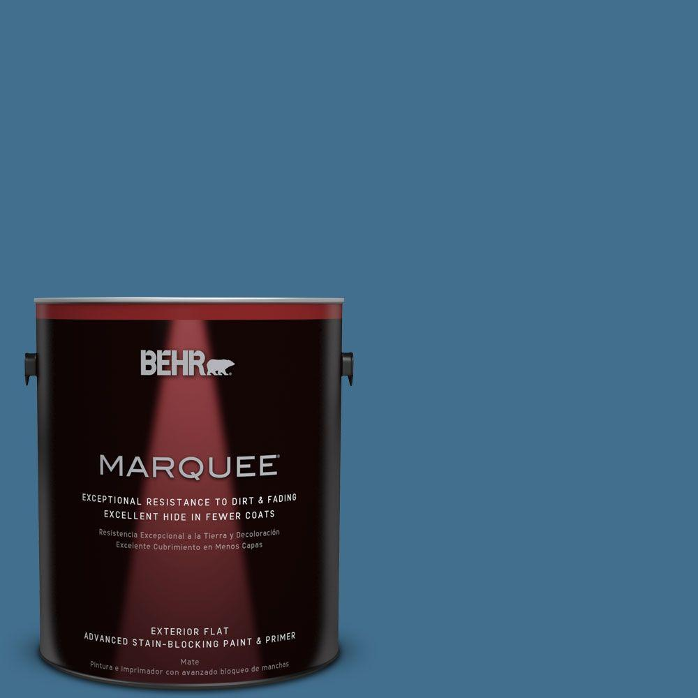 1-gal. #M500-5 Sojourn Blue Flat Exterior Paint