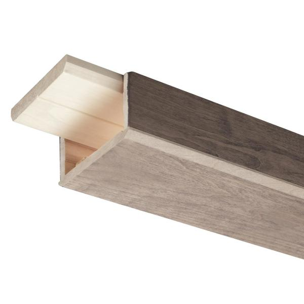 Prestained Gray 3 in. x 5 in. x 96 in. Wood Faux Beam