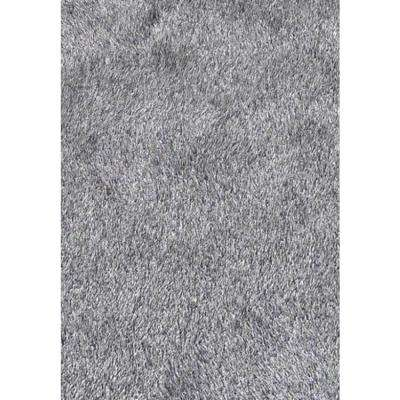 """""""Fancy Shaggy"""" Hand Tufted Area Rug in Grey (5-ft x 7-ft)"""