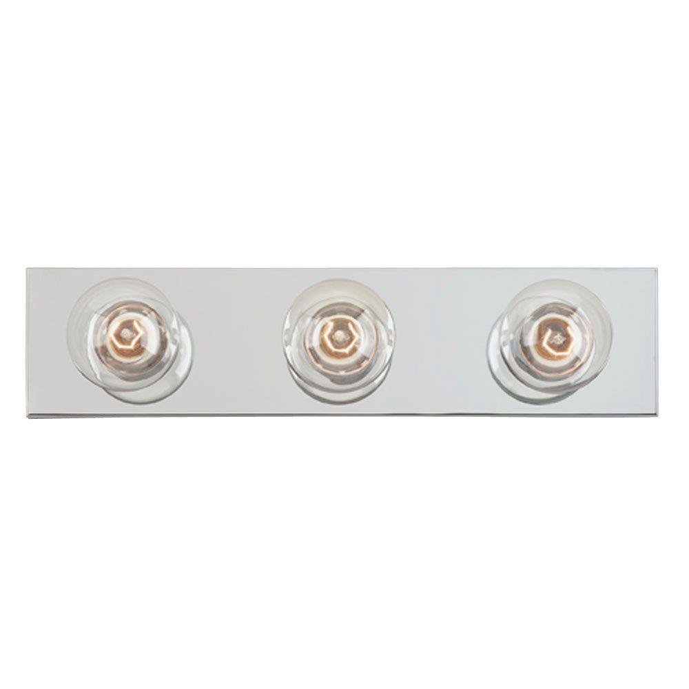 Westinghouse 3 light chrome interior bath bar light - Chapter 3 light bar bathroom light ...