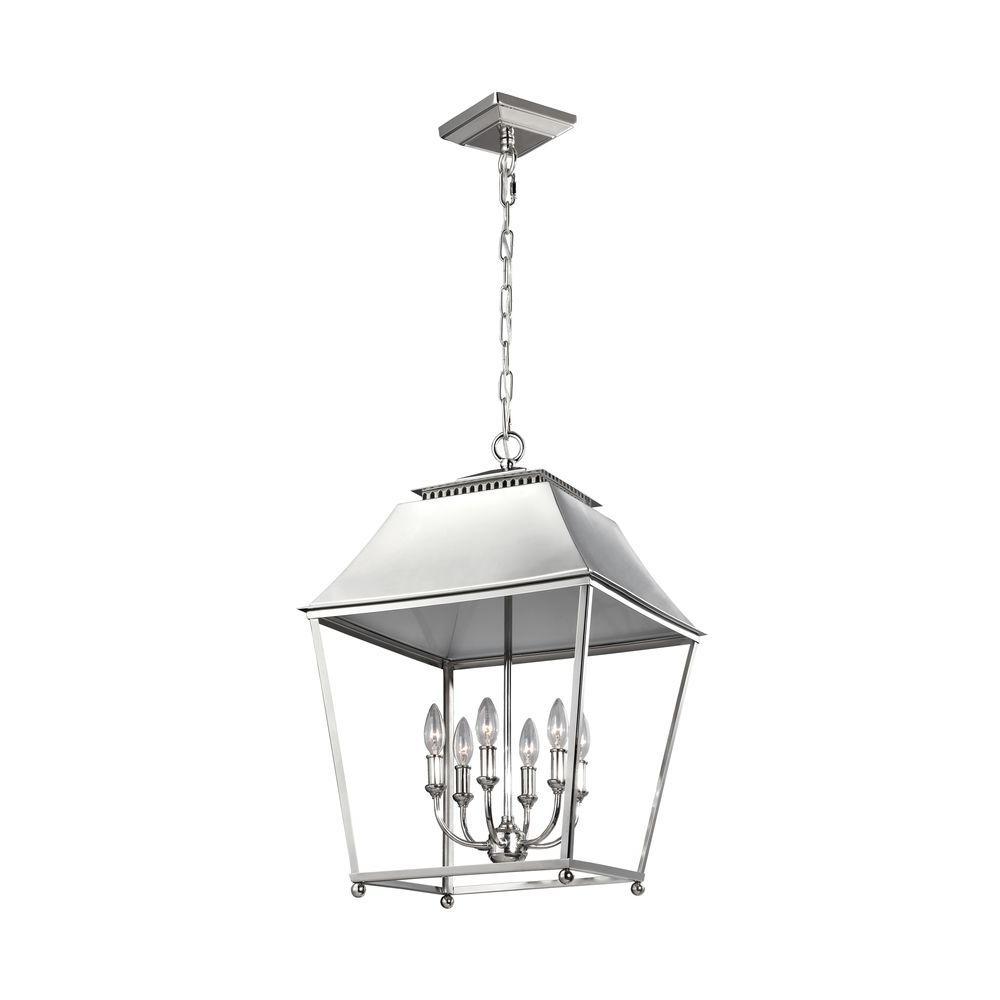 Galloway 6-Light Polished Nickel Indoor Pendant
