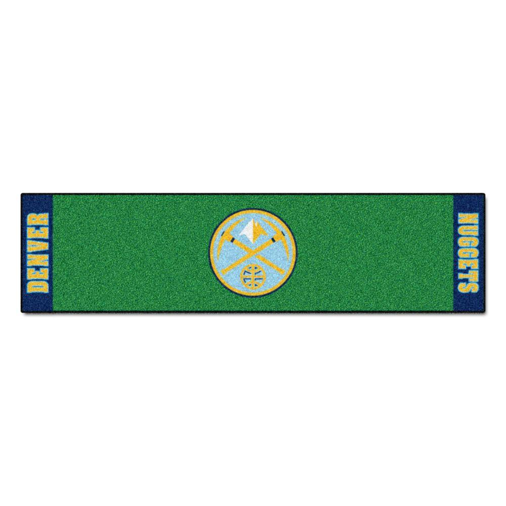 FANMATS NBA Denver Nuggets 1 ft. 6 in. x 6 ft. Indoor 1-Hole Golf ...