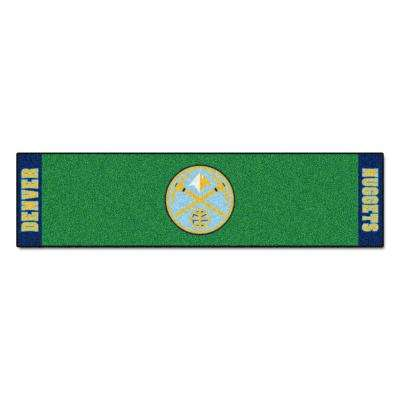NBA Denver Nuggets 1 ft. 6 in. x 6 ft. Indoor 1-Hole Golf Practice Putting Green