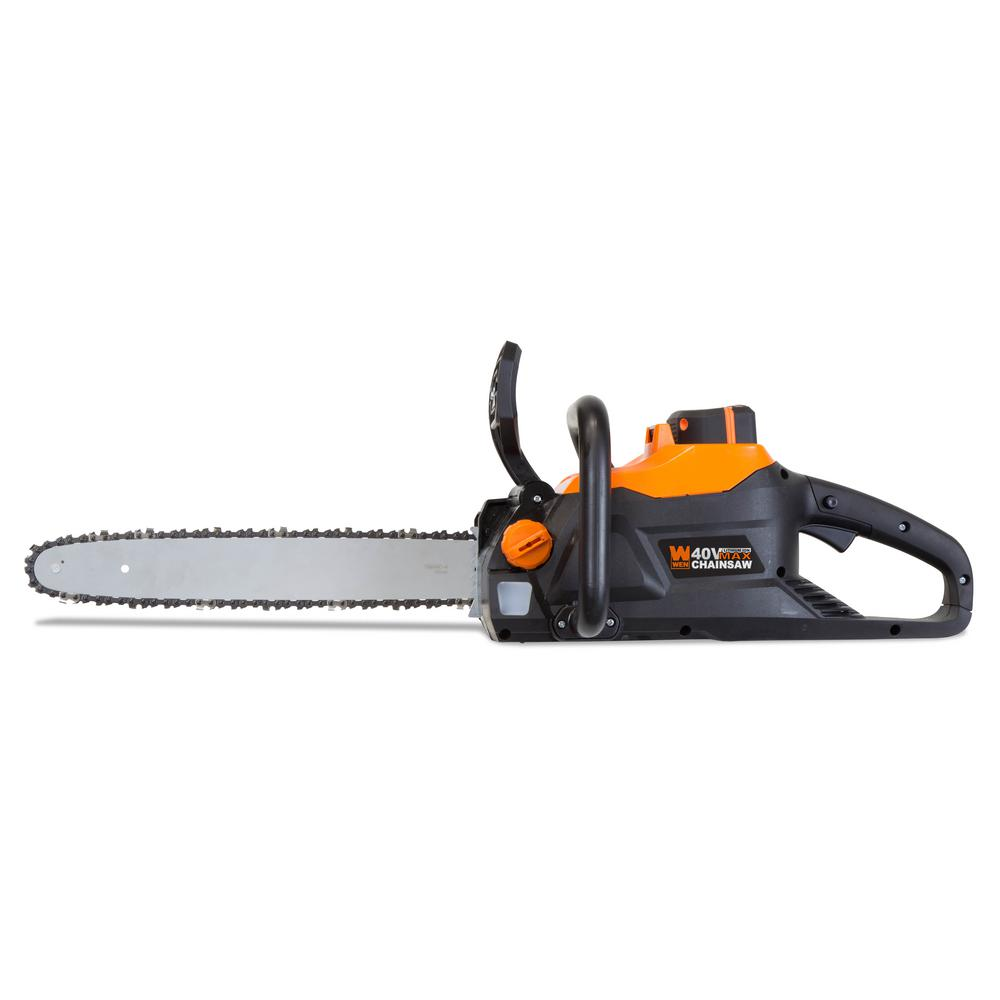 WEN 40-Volt Max Lithium Ion 16 in. Brushless Chainsaw with