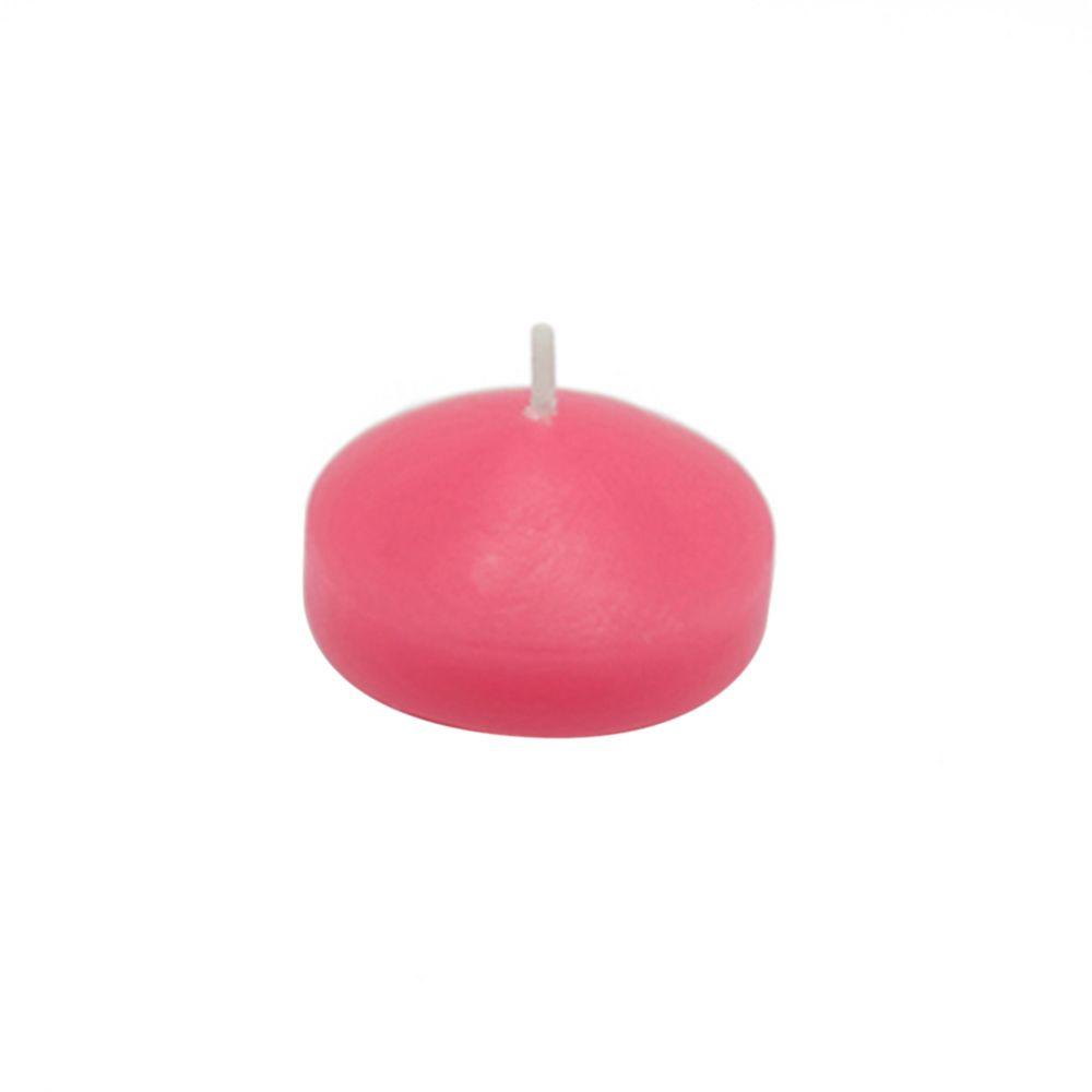 1.75 in. Hot Pink Floating Candles (Box of 24), Reds / Pinks